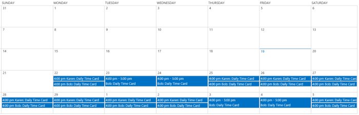 SharePoint Calendar