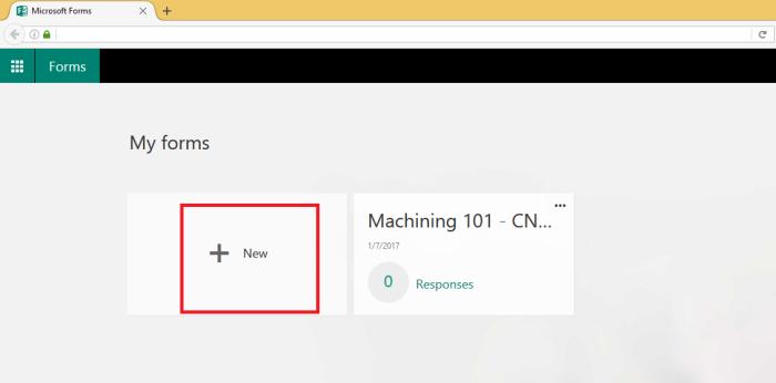 Microsoft O365 Create Form