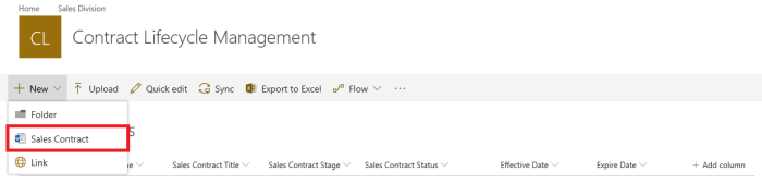 office 365 and sharepoint sales contract lifecycle management clm