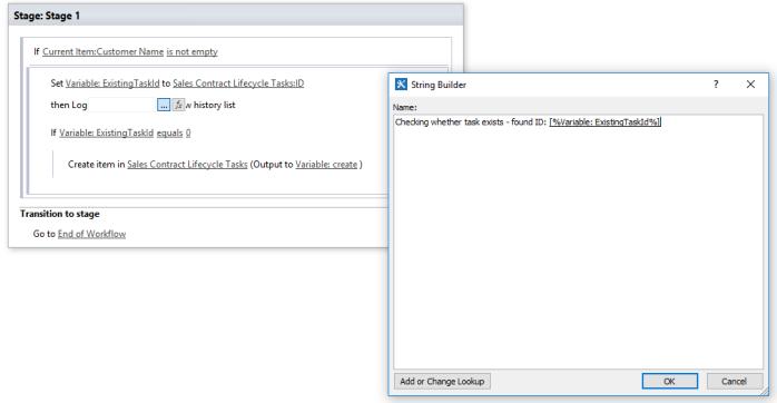 O365 SharePoint Business Management add log.