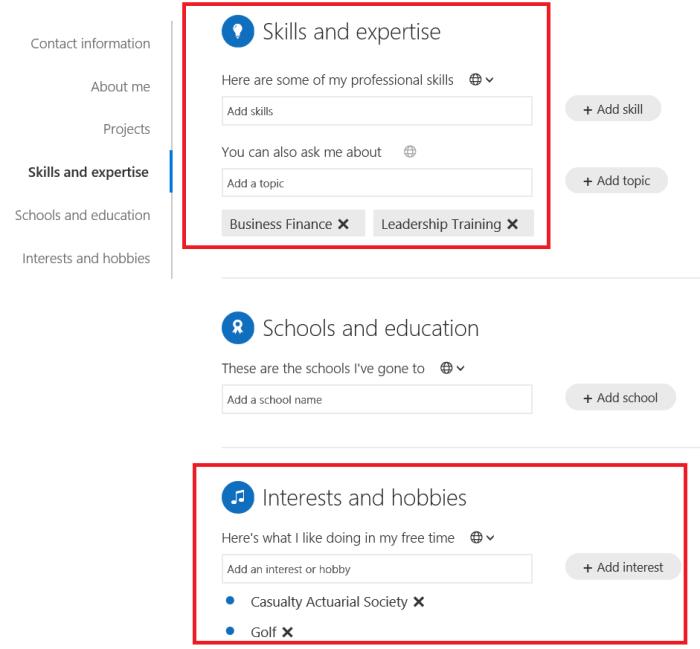 O365 SharePoint Delve expertise.