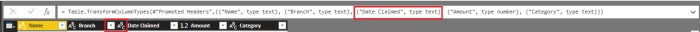 PowerBI date as text.
