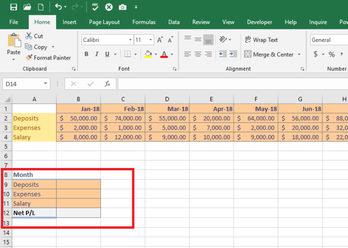 Microsoft Excel – Using VLOOKUP and OFFSET for Profit and Expense